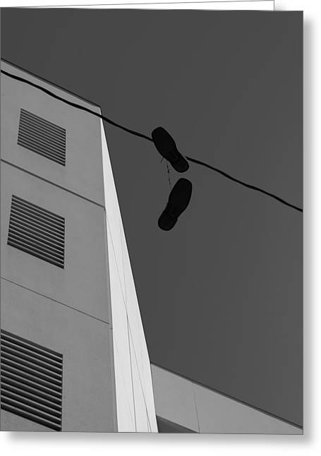 Greeting Card featuring the photograph Crossing The Line - Urban Life by Steven Milner