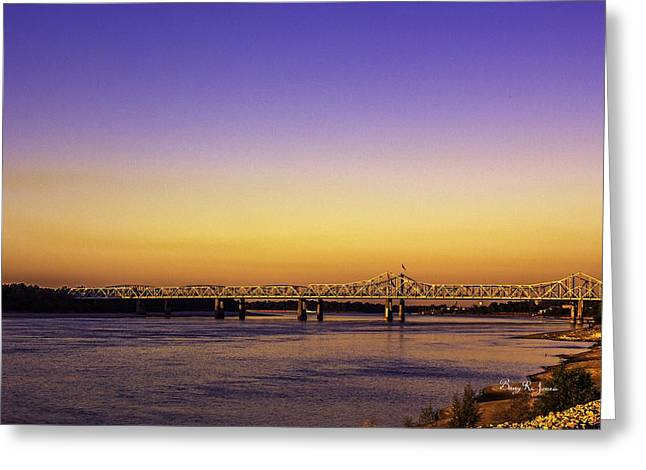 Crossing The Mississippi Greeting Card by Barry Jones