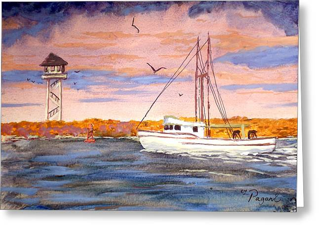 Crossing The Tillamook Bay Bar Greeting Card