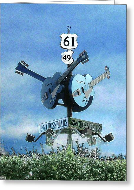 Greeting Card featuring the photograph Crossroads In Clarksdale by Lizi Beard-Ward