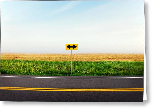 Crossroads Greeting Card by Todd Klassy