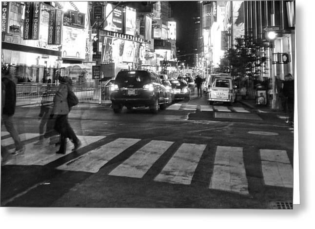Crosswalk Greeting Card by Dan Sproul