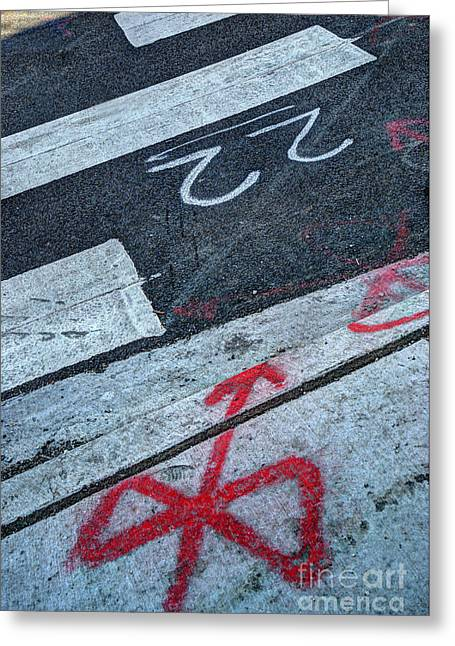 Crosswalk Greeting Card by Jim Wright