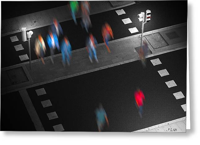 Crosswalk Greeting Card by Pedro L Gili