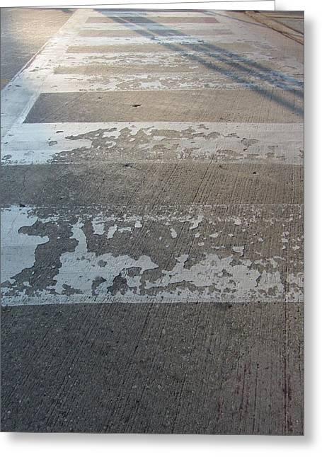 Crosswalk Shadow 1 Greeting Card