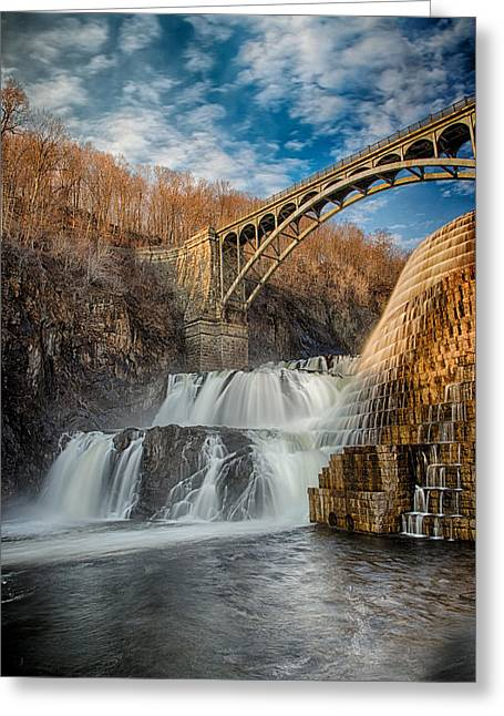 Croton Falls Bridge View Greeting Card by Emmanouil Klimis