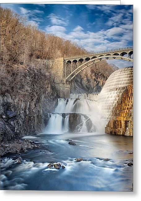 Croton Falls Greeting Card by Emmanouil Klimis