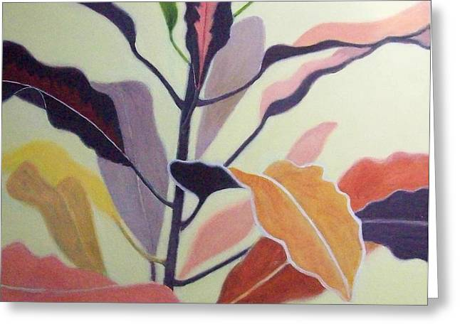Croton Greeting Card by Mary Adam