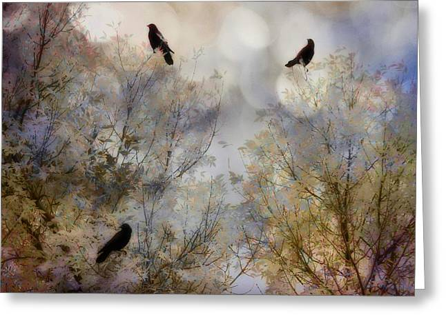 Crow Bling Greeting Card by Gothicrow Images