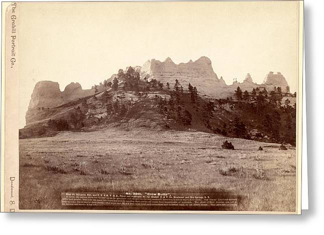 Crow Butte. Near Ft. Robinson, Neb. And F.e. & M.v. R.r. -- Greeting Card by Litz Collection