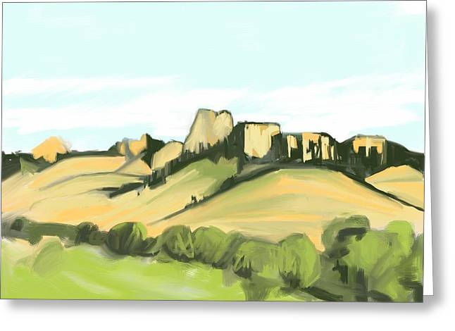 Crow Butte Greeting Card by Ron Erickson