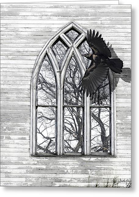 Crow Church Greeting Card