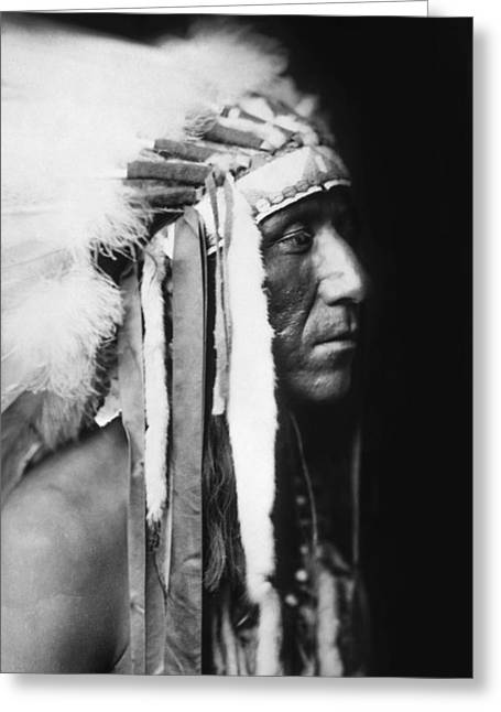 Crow Indian Man Circa 1905 Greeting Card by Aged Pixel