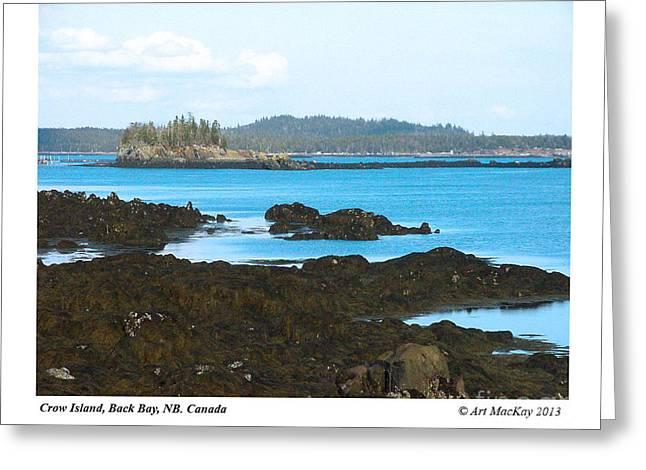 Crow Island Bay Of Fundy Nb Greeting Card