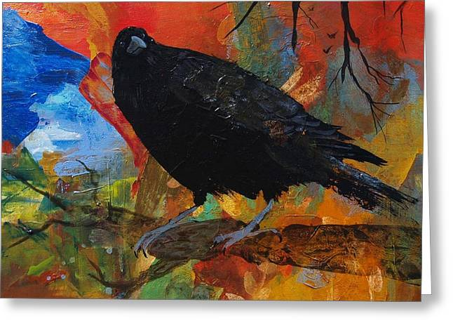 Crow On A Branch Greeting Card