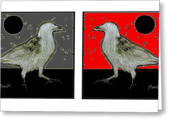 Crow5 Greeting Card by Herb Russel