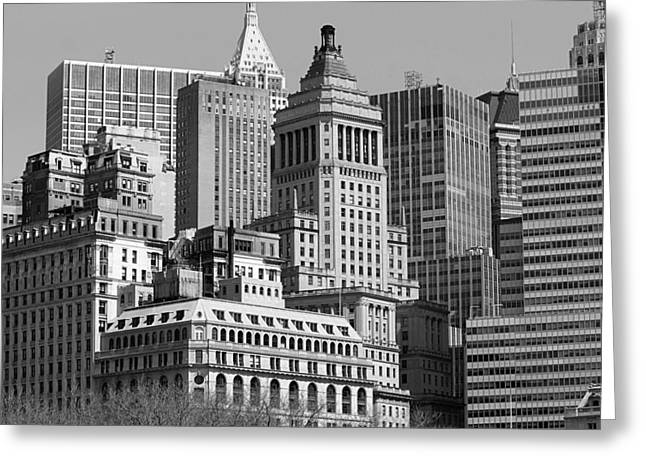 Crowded City Ny Greeting Card by Thomas Fouch