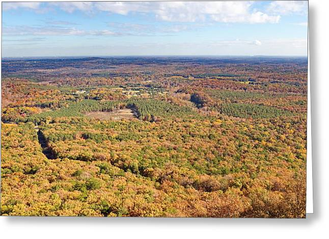 Crowders Mountain Overlook Panorma Greeting Card