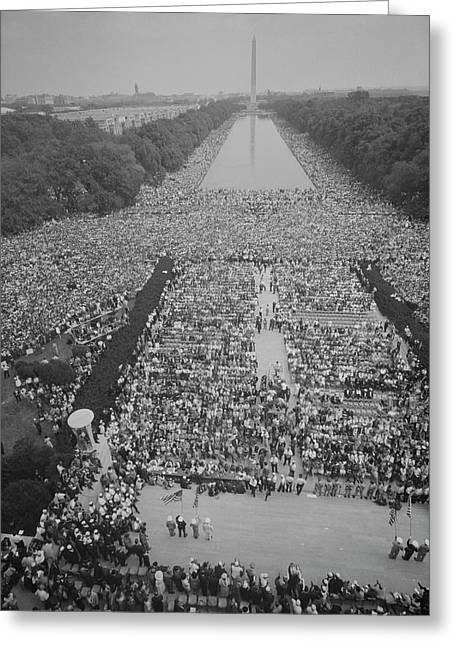Crowds Of People Gather On The National Greeting Card