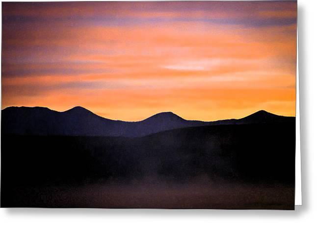 Crowley Lake Sunrise Greeting Card by Sherri Meyer