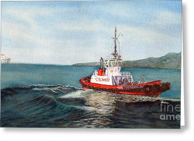 Crowley Tug Greeting Card