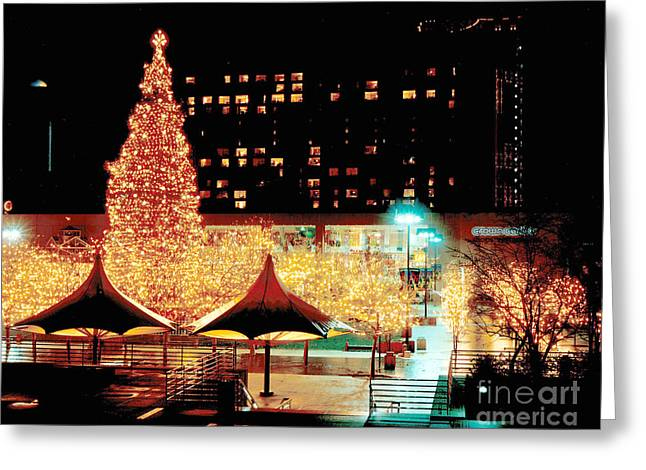 Crown Center Christmas - Kansas City-1 Greeting Card by Gary Gingrich Galleries