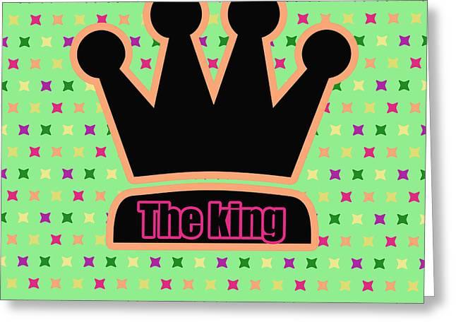 Crown In Pop Art Greeting Card