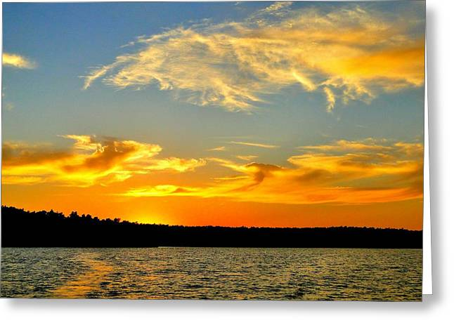 Crown Lake  Sunset  Retired Ahhh Greeting Card by Cindy Croal