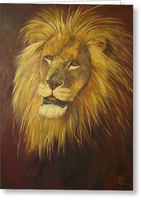 Crown Of Courage,lion Greeting Card