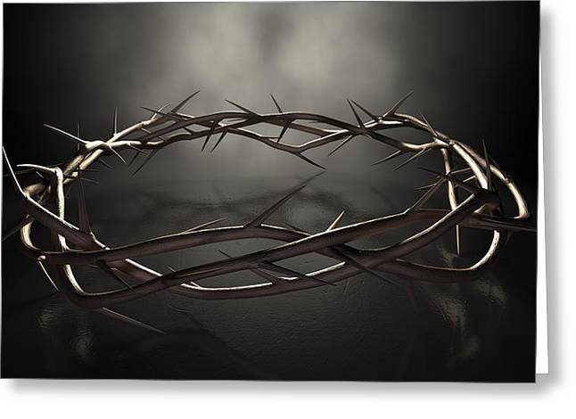 Crown Of Thorns Greeting Card by Allan Swart