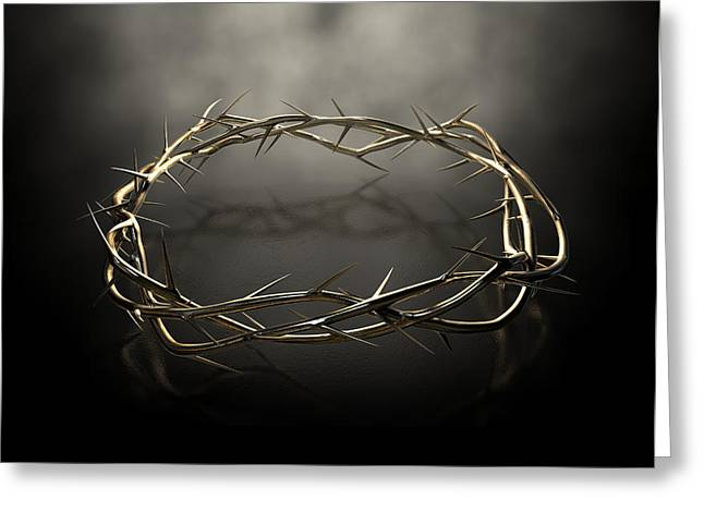 Crown Of Thorns Gold Casting Greeting Card by Allan Swart