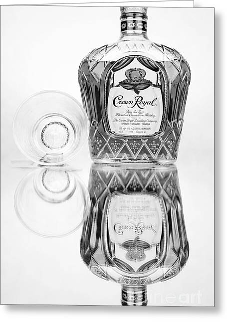 Crown Royal Black And White Greeting Card