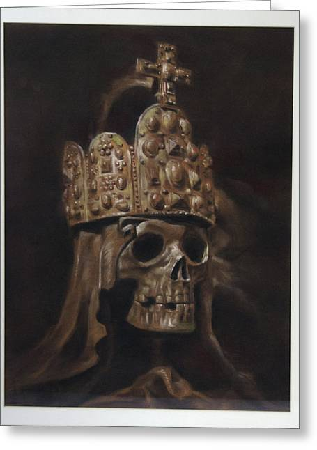 Crowned Death Greeting Card