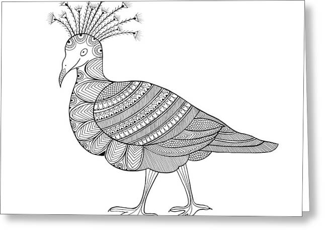 Crowned Pigeon Greeting Card by Neeti Goswami