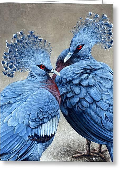 Crowned Victorians Greeting Card by Cara Bevan