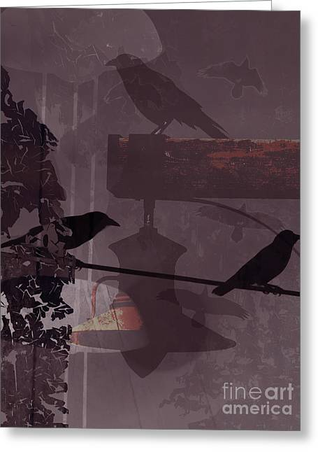 Crows  Greeting Card by Robert Ball