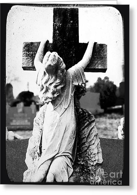 Crucifix Greeting Card by John Rizzuto