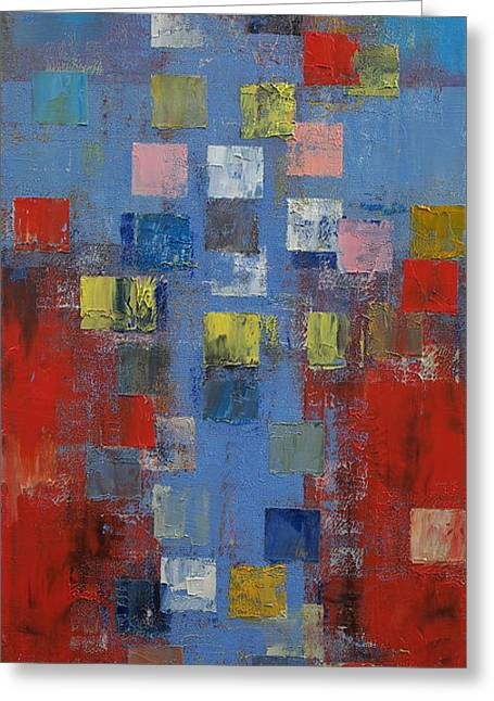 Crucifixion Greeting Card by Michael Creese