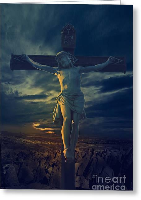 Crucifixcion Greeting Card