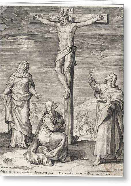Crucifixion Of Christ, Anonymous, Frans Van Den Wijngaerde Greeting Card