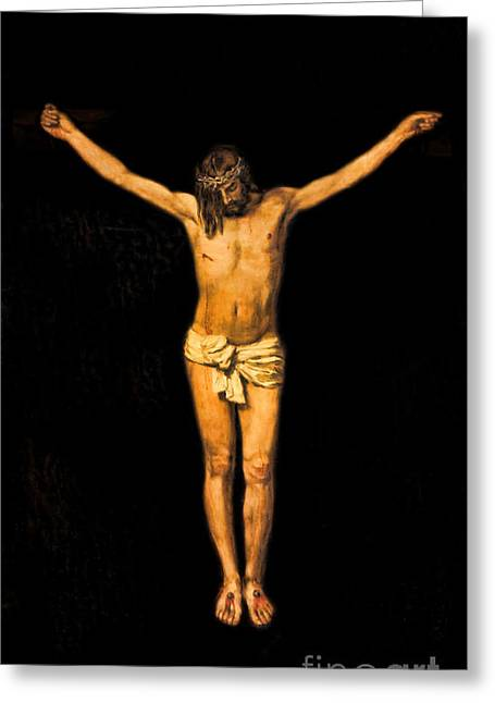 Crucifixion Of Jesus Christ Greeting Card by Lee Dos Santos