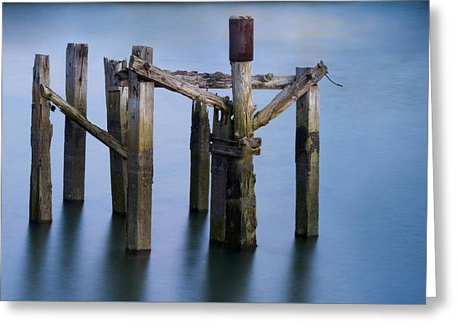 Crucifixion Of Wood And Water Greeting Card by Fernando Alvarez