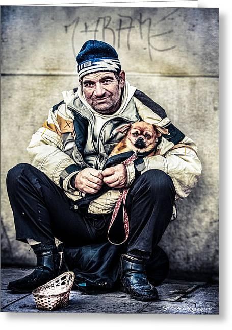 Cruel Street Life Greeting Card by Stwayne Keubrick