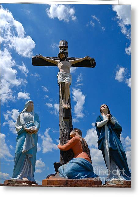 Cruficix Statue At Saint Alphonsus Church Wexford Greeting Card