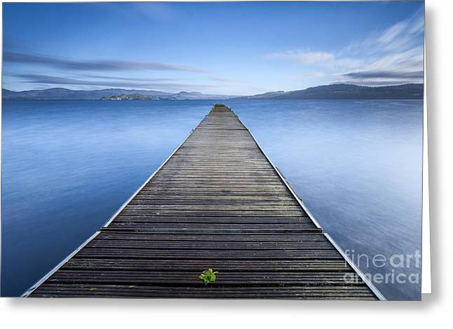 Cruin Jetty Greeting Card by John Farnan