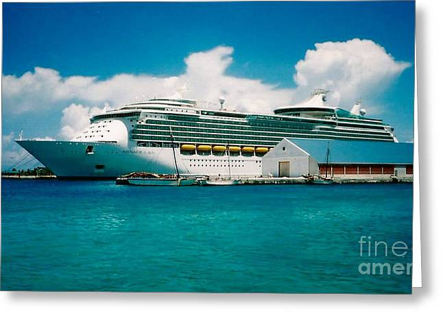 Cruise Ship Art Greeting Card