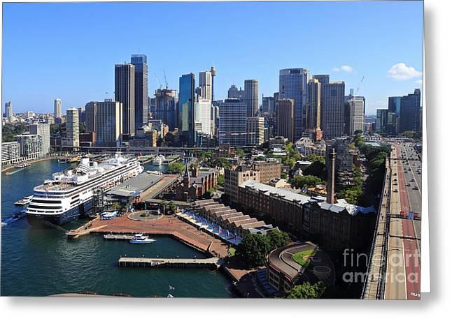 Cruiser Ship In Sydney Greeting Card