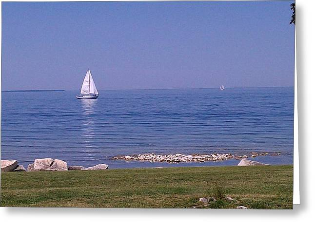cruisin down the Bay on a Sunday afternoon Greeting Card by Dawn Koepp