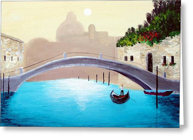 Cruisin Venice Greeting Card by Larry Cirigliano