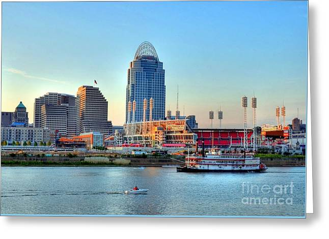 Cruising By Cincinnati Greeting Card by Mel Steinhauer